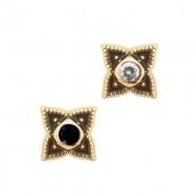 14K Gold Flower Mandala Attachment with Swarovski Crystal (For 1.6 Internally Threaded Jewelry)