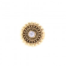 14K Gold Attachment with Swarovski Crystal (For 1.6mm Internally Threaded Jewelry)