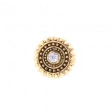 14K Gold Attachment with Swarovski Crystal (For 1.6mm Internally Threaded Jewelry)