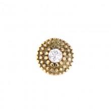 14K Gold Attachment with Swarovski Crystal (For 1.2mm Internally Threaded Jewelry)