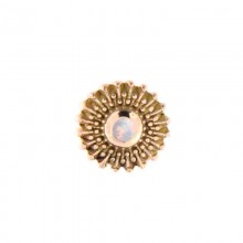 14K Gold Attachment with Opal (For 1.2mm Internally Threaded Jewelry)
