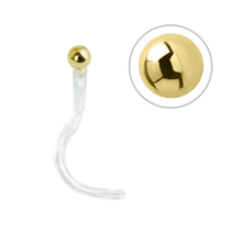 Bioplast® Nose Stud with 18K Gold Attachment
