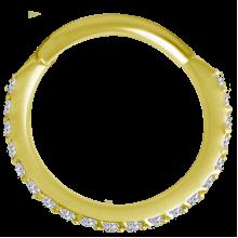18K Gold Septum Clicker with Swarovski