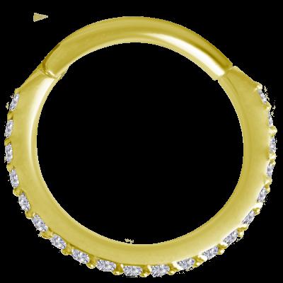 18K Gold Septum Clicker with Swarovski Septum