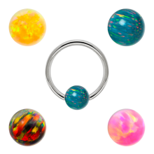 Synthetic Opal Clip In Bead