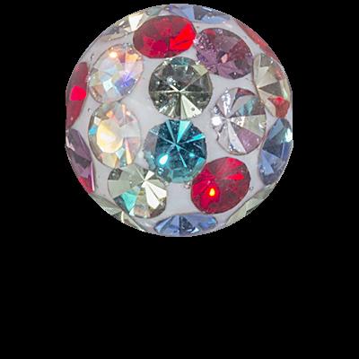 Double Threaded Crystal Ball Ear