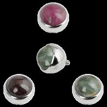 Premium Titanium Ball with Natural Tourmaline Stone (for 1.6 Internally Threaded)