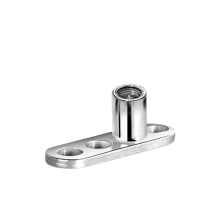 Titanium 3 Hole Dermal Anchor Base (1.2 Internal Threaded)