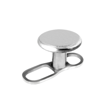 Titanium Open Style Dermal Anchor with Disc (1.2mm Internal Thread)