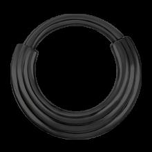 Black Steel Hinged Ring 3 Rings Concave Shape