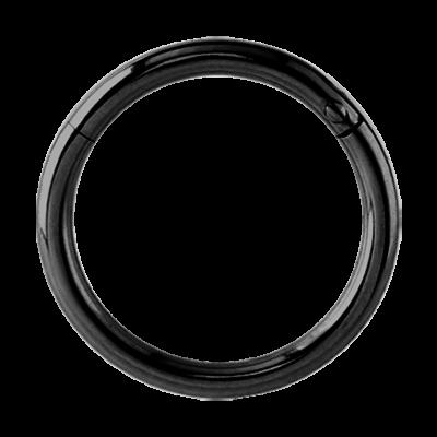 Black Steel Hinged Segment Ring Ear