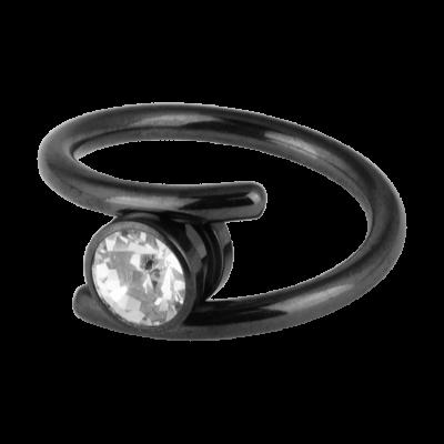 Blackline® Gripper Ring Navel