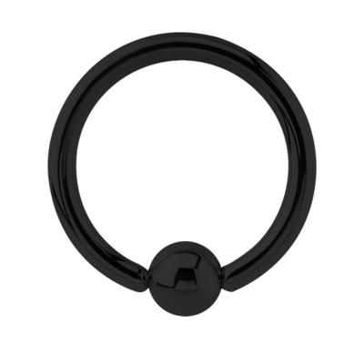 Black Steel Ball Closure Ring Ear