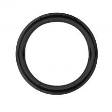 Black Steel Smooth Segment Ring