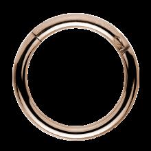 Rose Gold Titanium Hinged Segment Ring