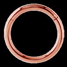 Rose Gold Steel Hinged Segment Ring