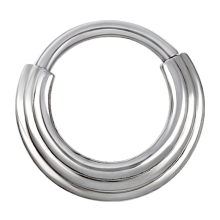 Steel Hinged Ring 3 Rings Concave Shape