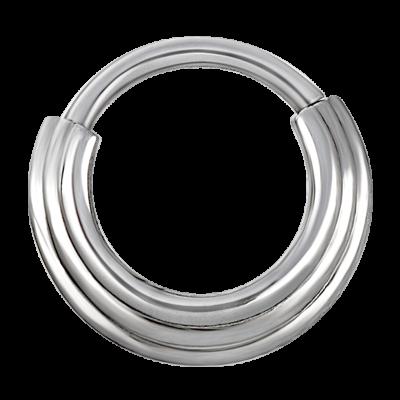 Steel Hinged Ring 3 Rings Concave Shape Septum