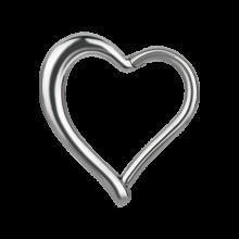Steel Hinged Segment Ring Heart Shape