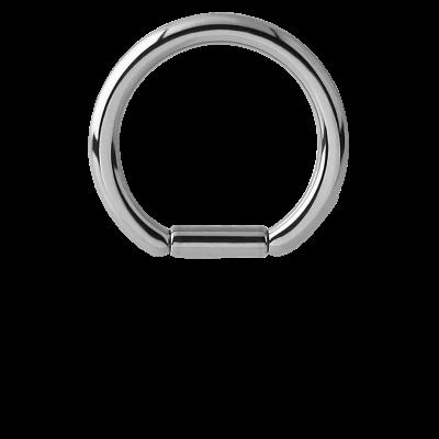 Anodized Titanium Bar Closure Ring Ear