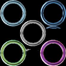 Anodized Titanium Smooth Segment Ring
