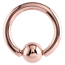 Rose Gold Steel Ball Closure Ring