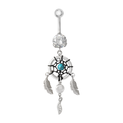 Jewelled Bananabell with Dangle Dream Catcher Navel