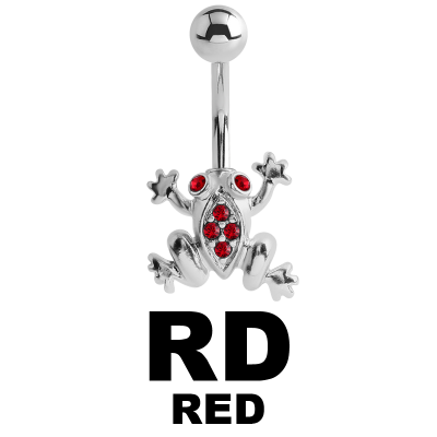 Bananabell Silver Ornament with Swarovski - Frog Navel