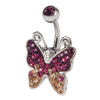 Crystal Butterfly Titanium Bananabell Ombelico