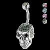 Crystal Skull Titanium Bananabell Ombelico