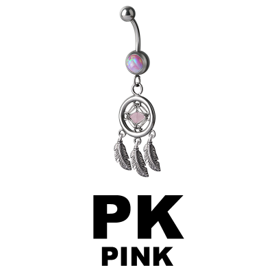 Jewelled Opal Bananabell with Dreamcatcher Navel