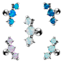 Helix Barbell with Synthetic Opal