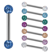 Internal Micro Barbells With 3mm Epoxy Crystal Balls