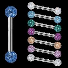 Internal Micro Barbells With 3mm Epoxy Crystal Balls
