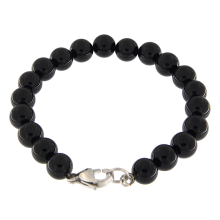 Single Line Black Onyx Beads Bracelet
