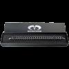 Double Line Black Onyx Beads Bracelet With Steel Element Bracciali