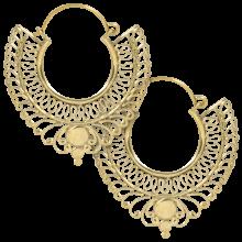 Ornamental brass earrings