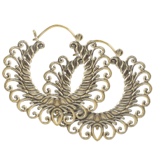 Brass Tribal Earrings (price for pair)