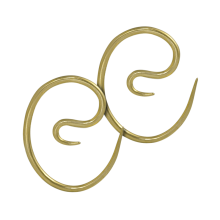 Brass Spiral Earrings (Price for Pair)