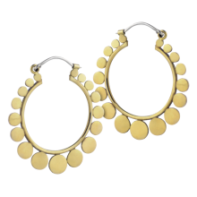 Brass Hoops Earrings with Silver Hook (Price for Pair)