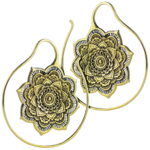 Brass Mandala Spiral Earrings (Price for Pair)