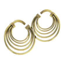 Brass Spiral Hand Made Earrings (Price for Pair)