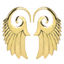 Brass Wings Spiral Hooks (Price for Pair)