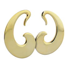 Yellow Brass Tribal Earrings (Price for Pair)