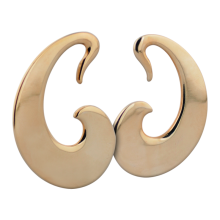 Rose Brass Tribal Earrings (Price for Pair)