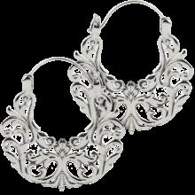 White Brass Gyspy Earrings (Price for Pair)