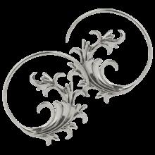 White Brass Japanese Spiral Earrings (Price for Pair)