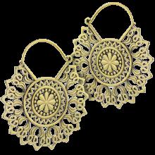 Brass Mandala Hoops Earring (Price for Pair)