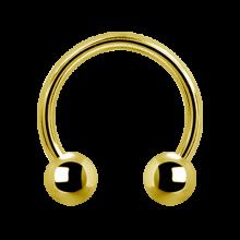 Gold Pvd Steel Micro Circular Barbell
