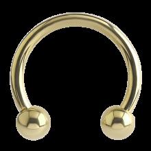Zircon Titanium Circular Barbell